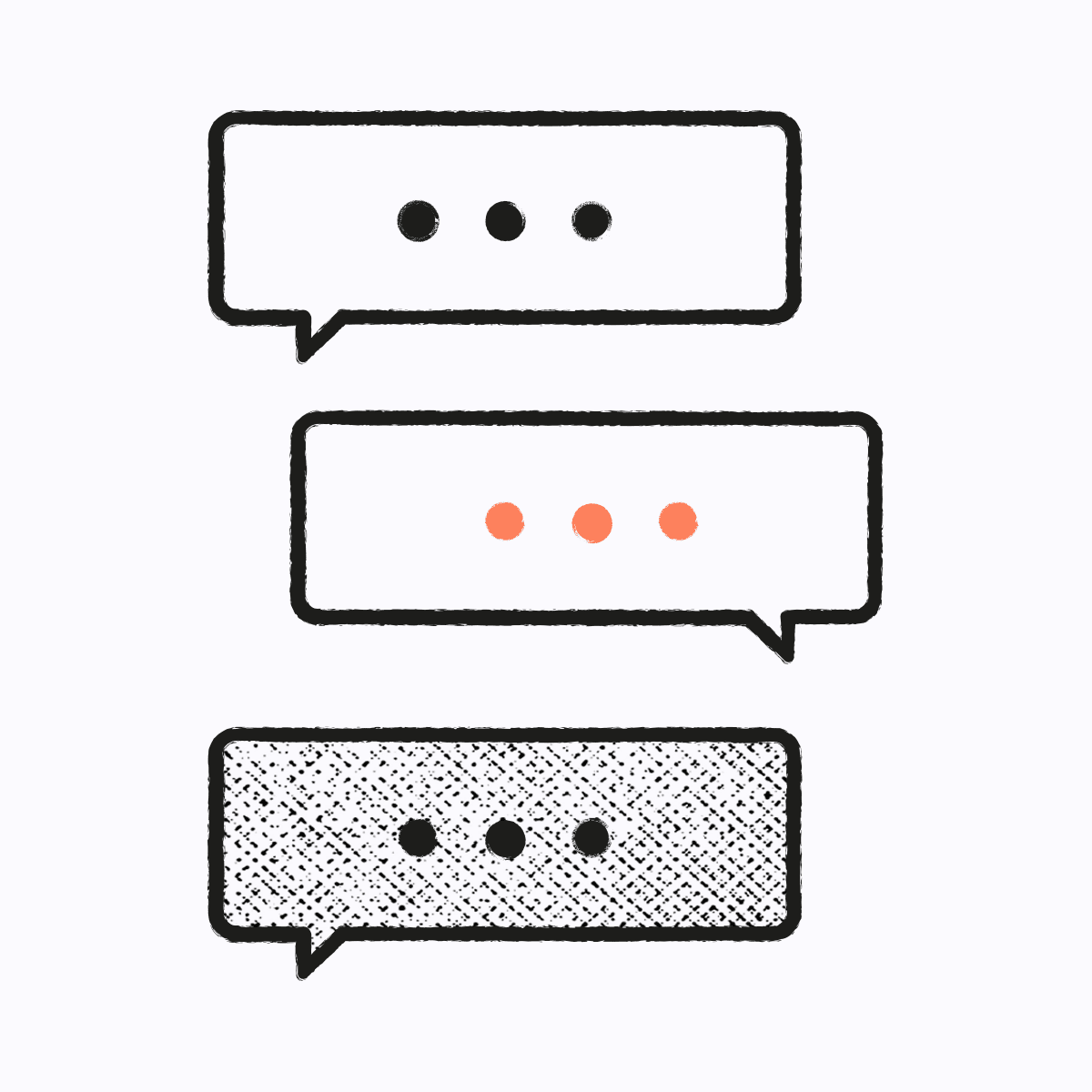 Illustration of text speech bubbles